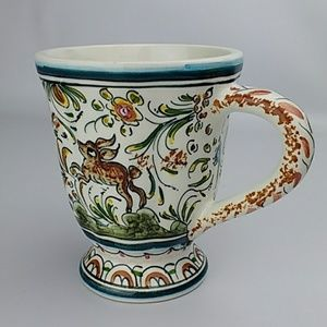 Ceramicas de Coimbra Portugal Handpainted Mug